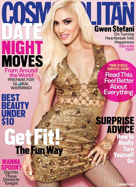 Actress, Singer, @ Gwen Stefani - Cosmopolitan Magazine September 2016