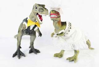 Unique and Cute Dinosaur Wedding Cake Topper