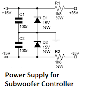 power supply subwoofer controller