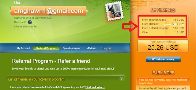 إقرأ رسائل في بريدك الإلكتروني واكسب عشرات الدولارات + 11$ هدية التسجيل مع هذا الموقع الرائع