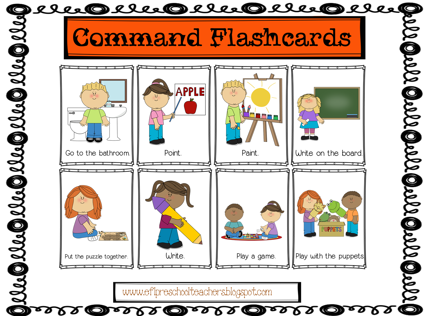 Efl Elementary Teachers Classroom Commands