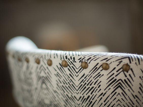 poltroncina, Fayce textiles, tessuto stampato a mano, Kim Rosen,