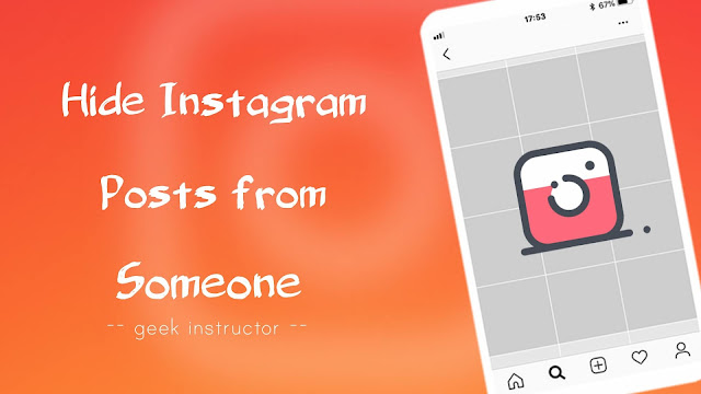 Hide Instagram posts from someone