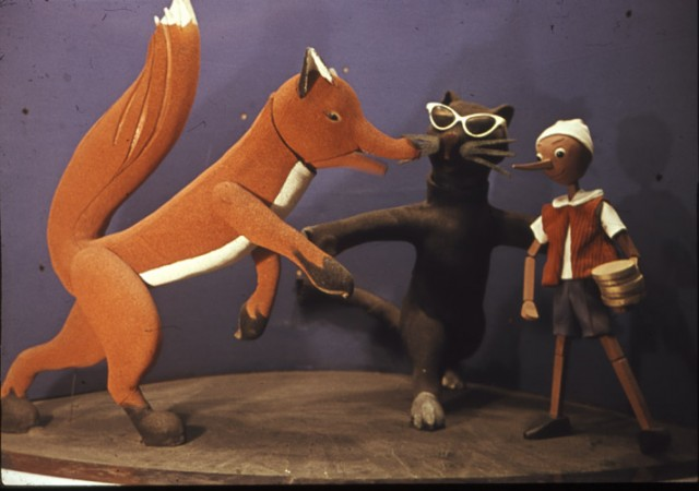 Лиса Алиса, Кот Базилио и Буратино- фигуры «Театра Буратино»