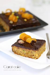 Морковена торта с къдрици и шоколад