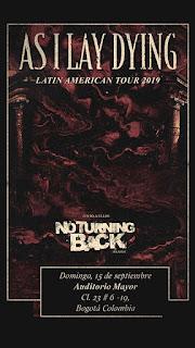 Concierto de AS I LAY DYING + NO TURNING BACK en Bogotá