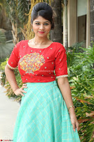Lucky Shree Looks super cute in Bright Red Green Anarkali Dress ~  Exclusive 031.JPG