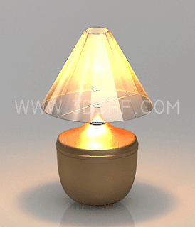 bed lamp 3d model