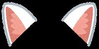 獣耳のイラスト(白キツネ1)