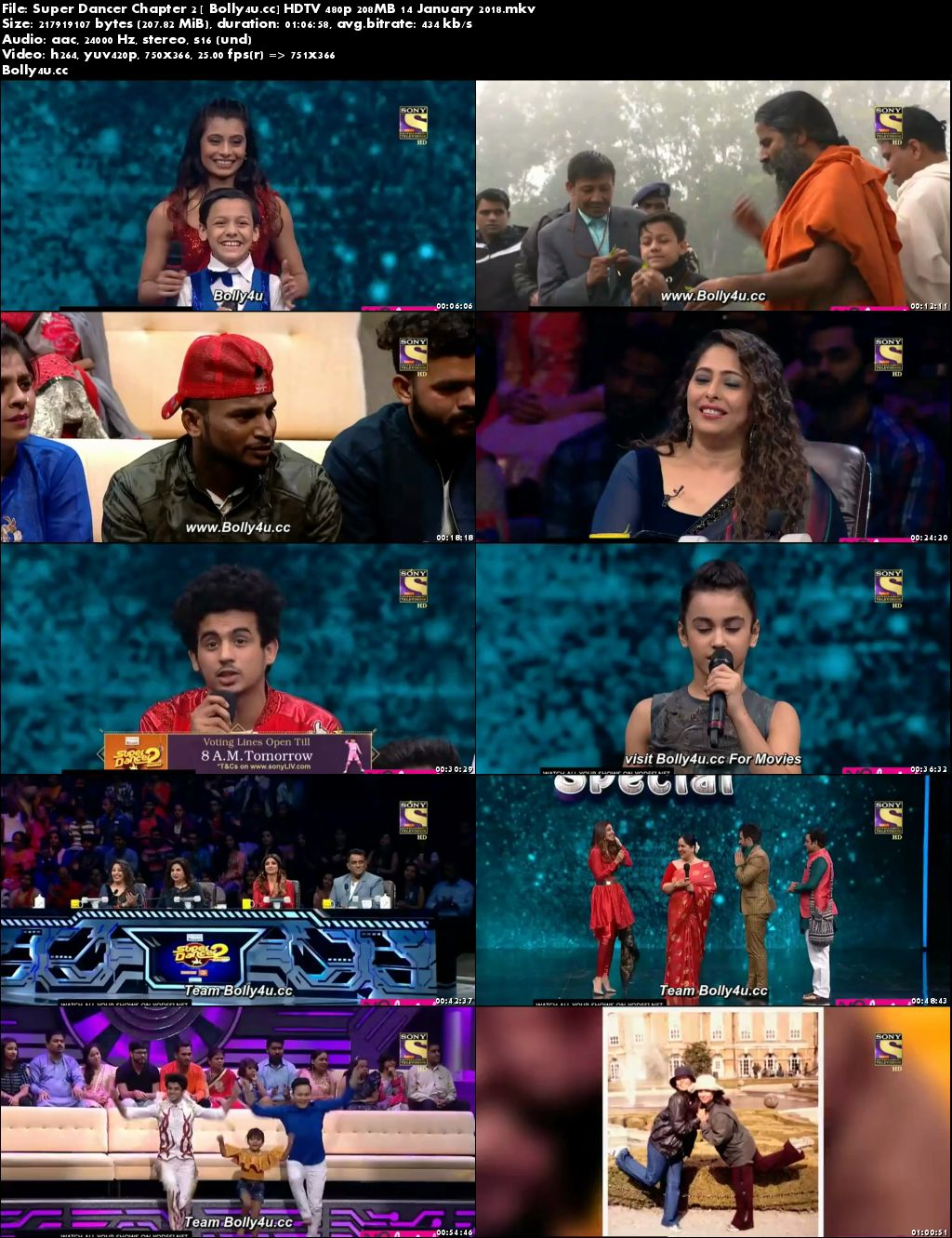 Super Dancer Chapter 2 HDTV 480p 200MB 14 January 2018 Download