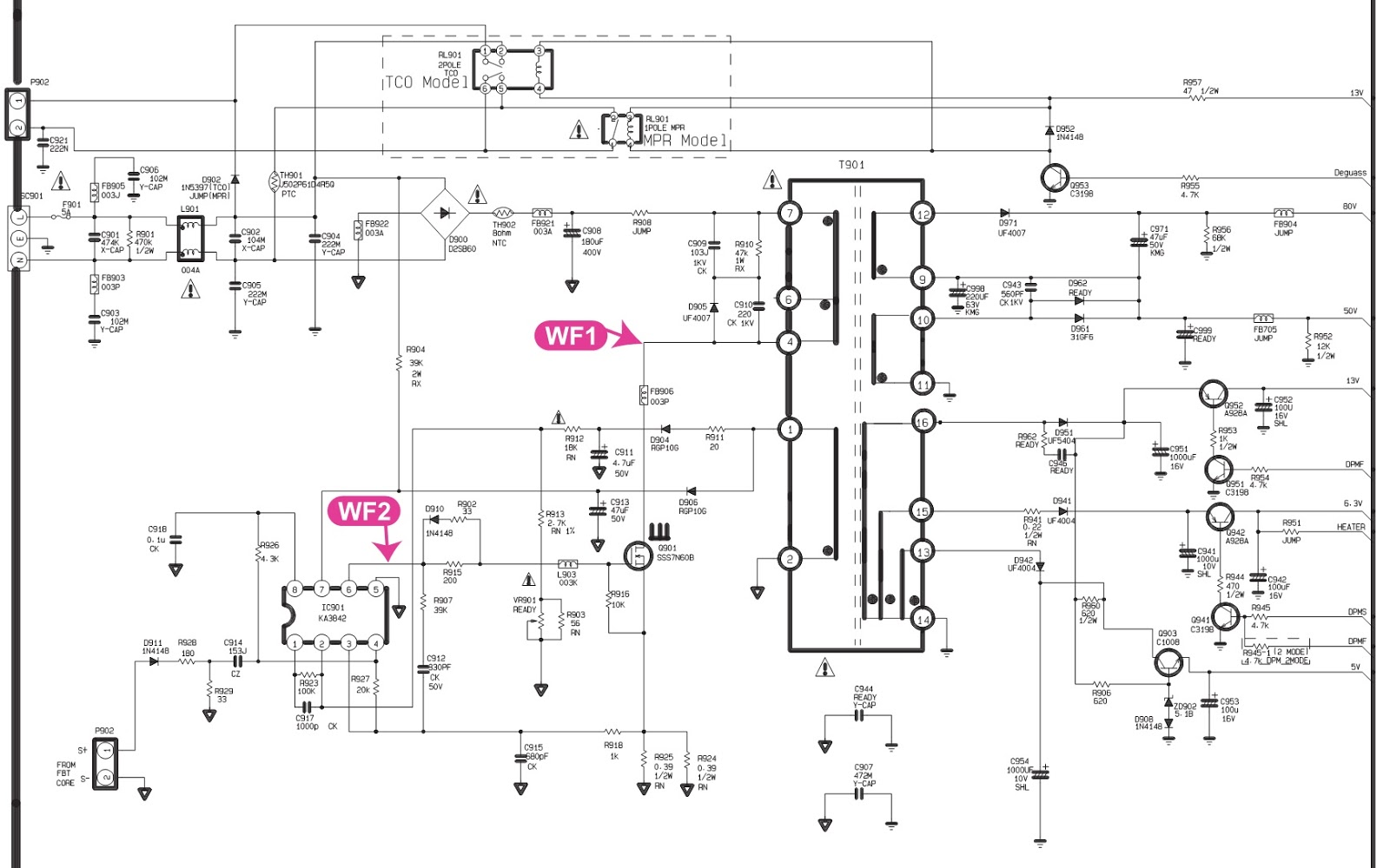 Crt Monitor Schematic Diagram Free Wiring For You Download Diagrams Pictures Lg Flatron C17lc 17 Inch Circuit Pdf Board