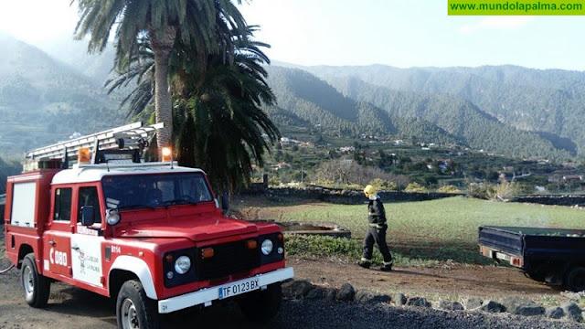 Pequeño conato de incendio ayer en Breña Alta