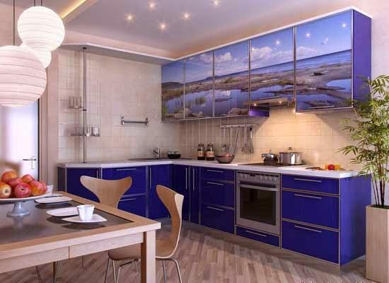 50 Ide Desain Interior Dapur Minimalis Warna Biru Bergaya Modern ...