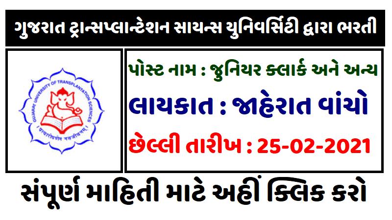 Gujarat University Recruitment For Various Post Apply Online 2021