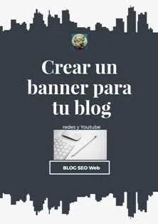 Cómo crear un banner para tu blog