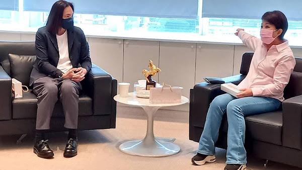 T1職籃聯盟會長錢薇娟拜會 盧秀燕:樂見台灣籃球蓬勃發展