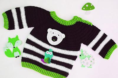 2 - Crochet Imagen Jersey marinero a crochet y ganchillo lindo facil sencillo por Majovel Crochet