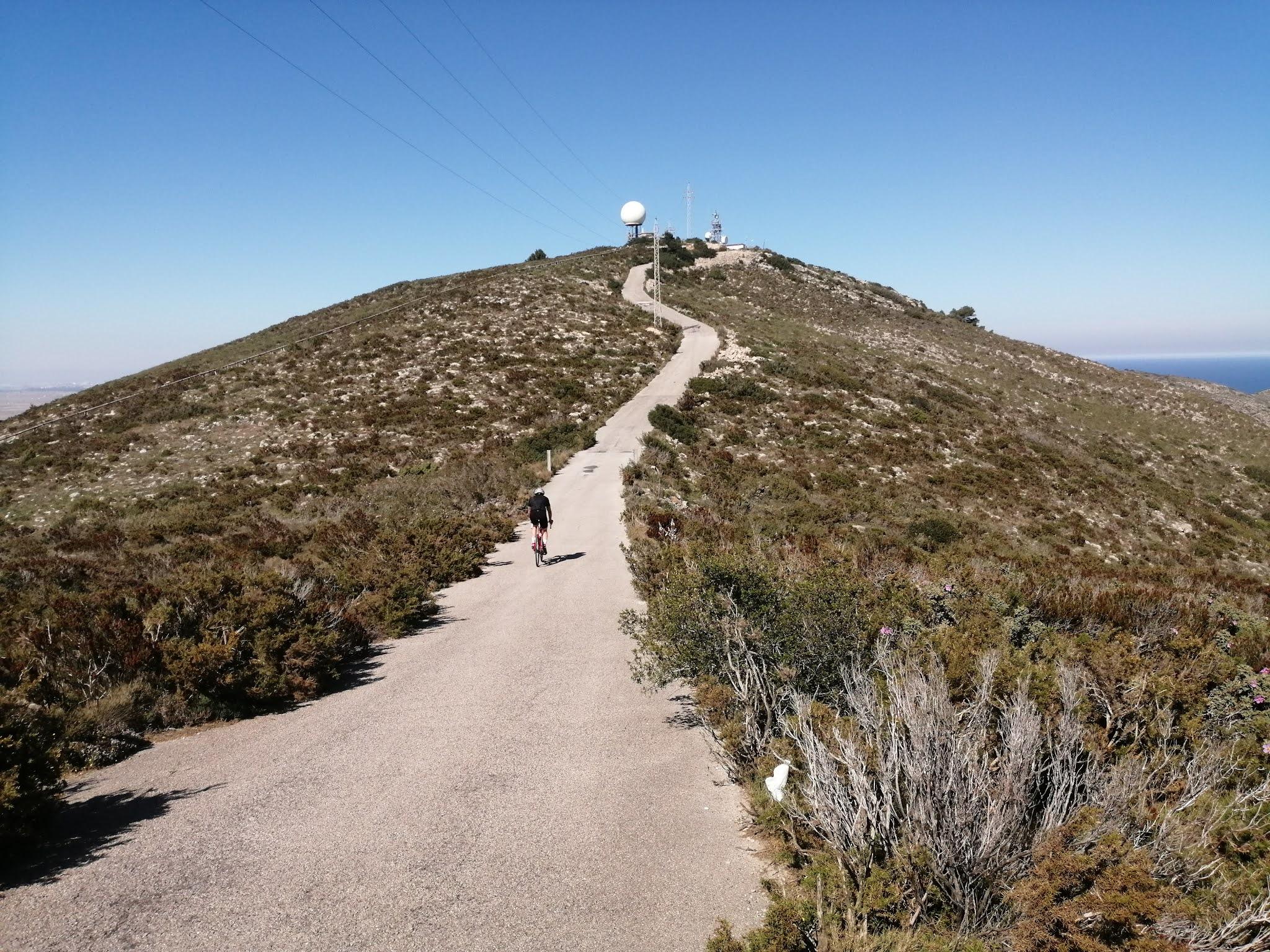 Final climb to the summit of la Bola de Cullera, Valencia, Spain
