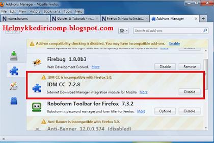 Mengatasi IDM Tidak Compatible pada Mozilla