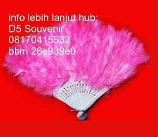 souvenir kipas, souvenir kipas bulu,   Souvenir Pernikahan, souvenir unik dan souvenir khas jogja