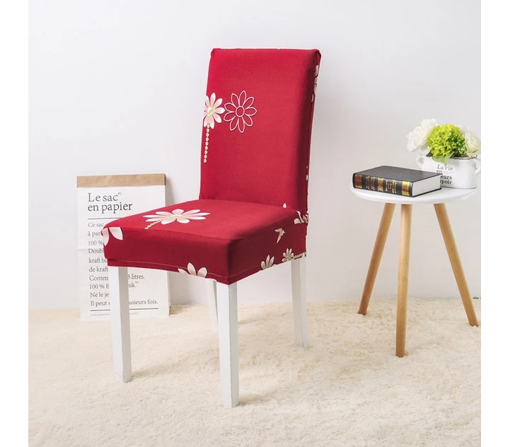 cute single cover sofa design ideas with red natural flower decor
