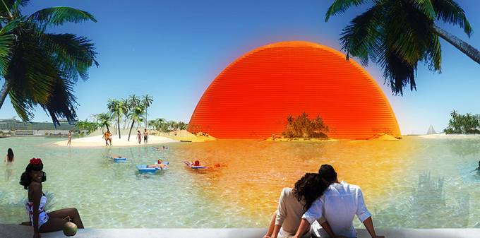 The Bayfront Park in Miami and this time proposal comes from visiondivision practice. Their design captures the soul of Miami as well as giving the city a fresh and innovative icon that would boost Miami's architectural legacy. Here comes the Miami Sun by visiondivision's group.
