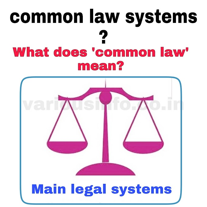 What are common law systems? What does 'common law' mean?
