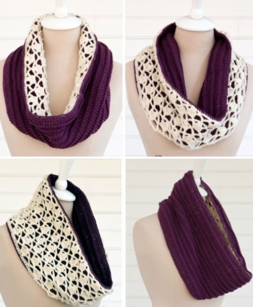 Snow Drops Reversible Cowl - Free Pattern