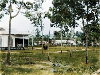 rumah asisten dan pekerja dari perkebunan di tapanuli selatan