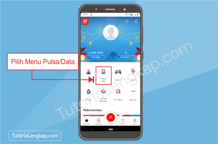 tutorialengkap 1 Cara Beli Pulsa Online dengan Harga Murah Melalui Aplikasi Linkaja di HP Android