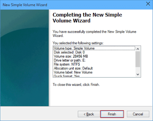 Now finish your task to complete disk partition .