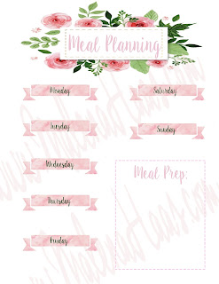 Weekly Meal Planning Insert