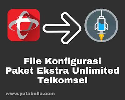 file config paket ekstra unlimited Telkomsel http injector