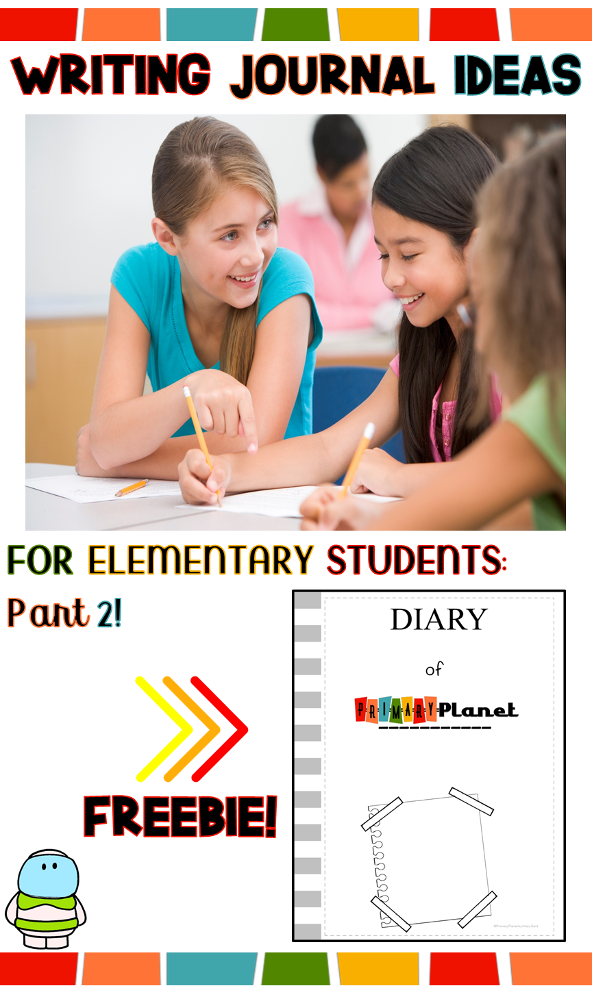 Get your elementary students writing with these writing journal ideas! I love using journals in my classroom to enhance my writing workshop or work on writing time! This blog post is Part 2 of a blog series about using writing journals in your classroom. This blog post has ideas for different types of journals that you can use in your classroom. It also includes a freebie, so you want to check it out! #primaryplanet #iteachwriting