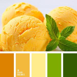 Еда: выпечка и десерты - гармоничные палитры в 5 цветов