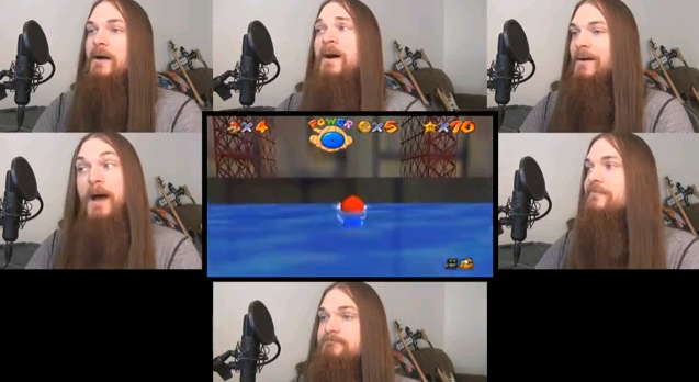 smooth mcgroove gravando super mario acapella
