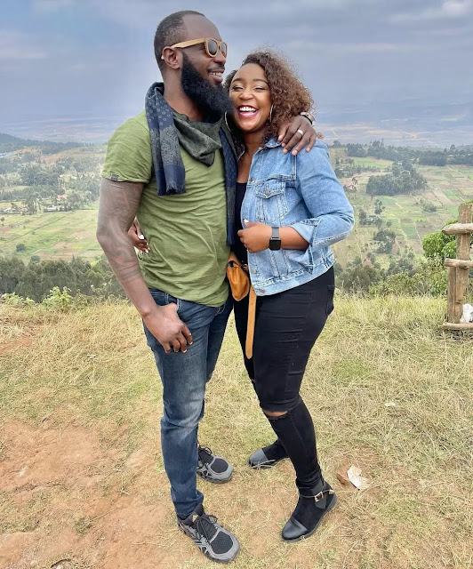 Media personality Betty Kyallo and her husband Nick Ndeda photo