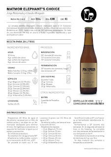 Recetas Homebrewer (1): MatMor Elephant's Choice