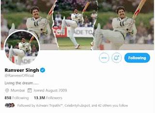 Ranveer Singh Twitter