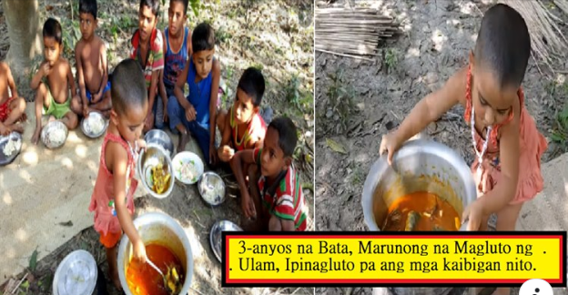 3-anyos na Bata, Marunong na Magluto ng Ulam, Ipinagluto pa ang mga kaibigan nito.
