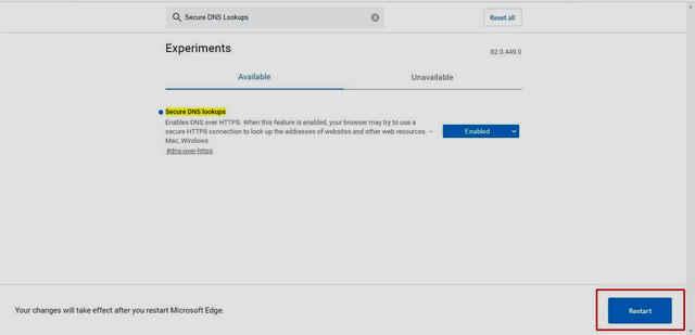 كيفية تمكين DNS عبر HTTPS لزيادة الأمان في متصفح مايكروسوفت إيدج
