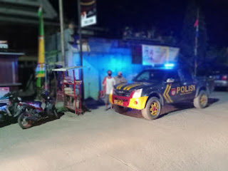 Cegah Gangguan Kamtibmas, Anggota Polsek Baraka Rutin Laksanakan Patroli Malam