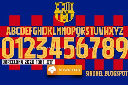 Download Font Jersey Barcelona 2019-2020