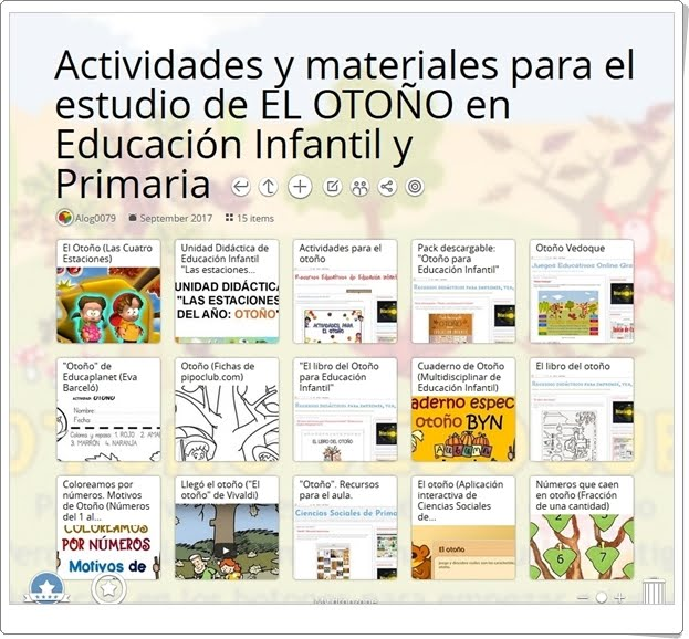 """""""15 Actividades y materiales para el estudio de EL OTOÑO en Educación Infantil y Primaria"""""""