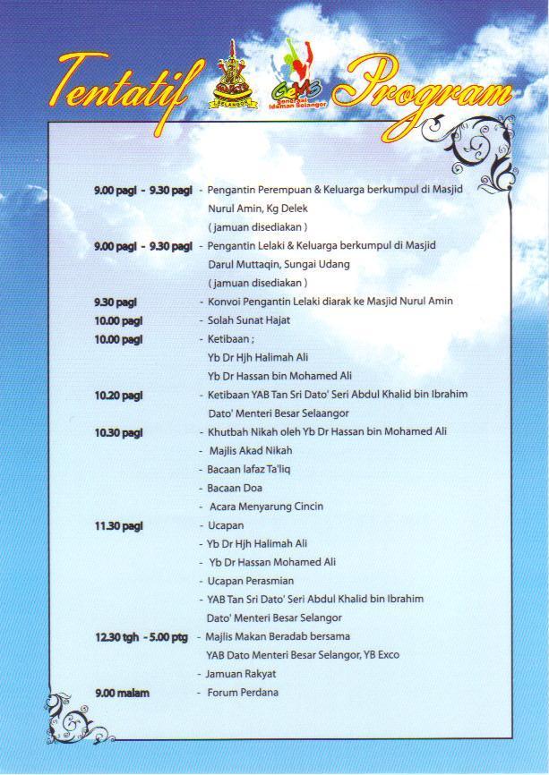 Contoh Buku Program Majlis Hari Raya - JobsDB