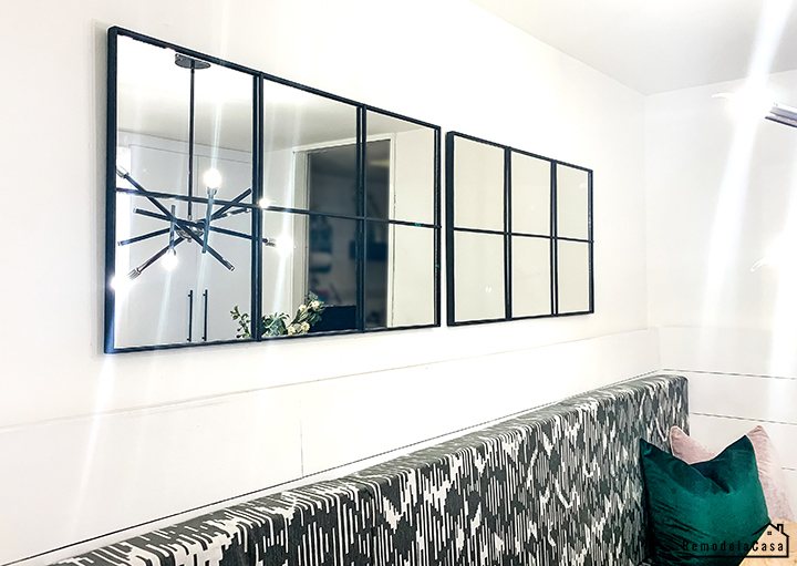 dining room makeover - Empodio mirrors