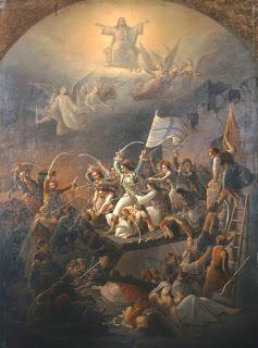 πίνακας: Θ. Π. Βρυζάκης, Η έξοδος του Μεσολογγίου, 1855,  Εθνική Πινακοθήκη της Ελλάδας, Μουσείο Αλεξάνδρου Σούτζου