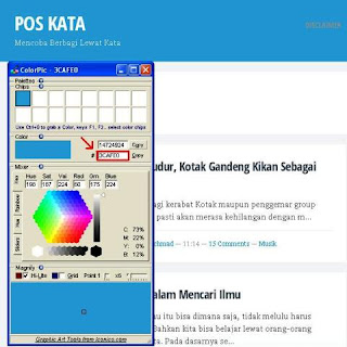 ColorPic Software Untuk Mengetahui Kode Warna HTML Template