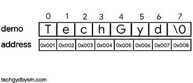Memory Representation of strings