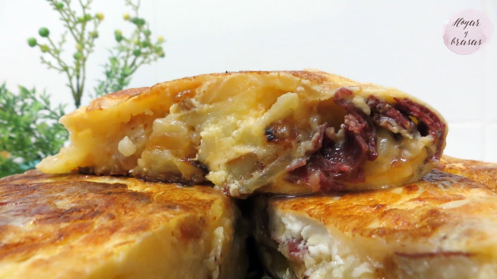 Tortilla de patata con cecina